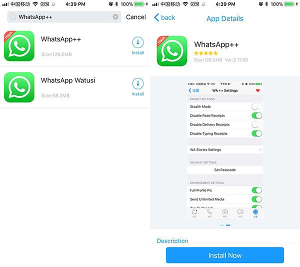 WhatsApp Plus iOS